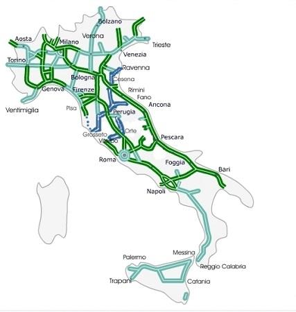 Схема платных автострад