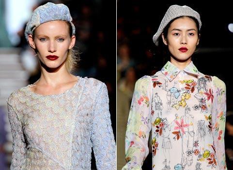 Авторский комментарий: модные вязаные шапки весна.