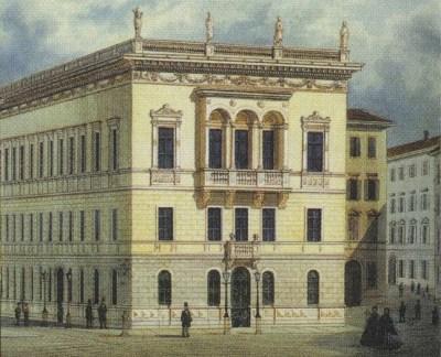 Дворец Револтелла на картине середины XIX века