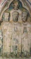 Группа тамплиеров. Надгробие XIII века, Испания