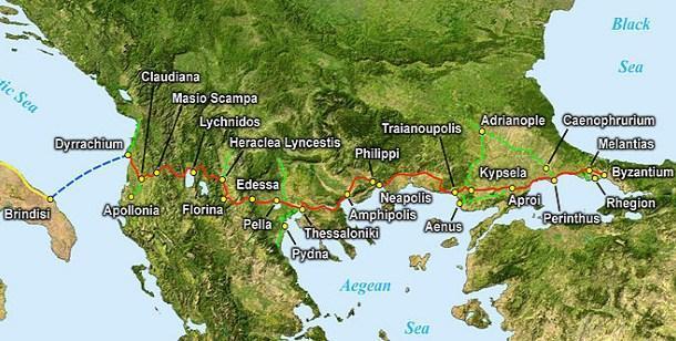 География Эгнатиевой дороги