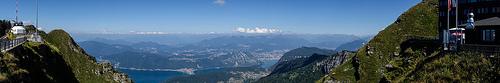 Озеро Лугано. Панорамный вид