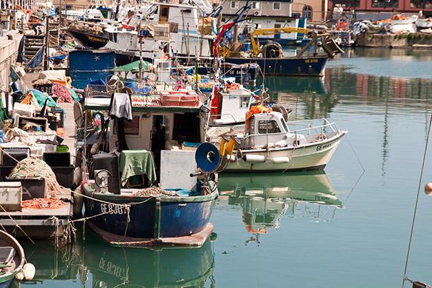 Лодки Генуя Италия