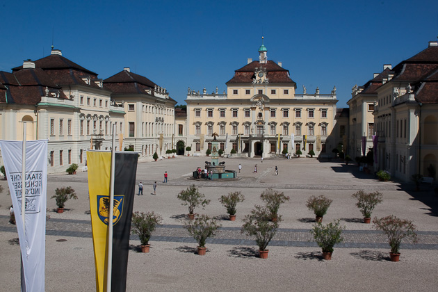 Вид на дворец в Людвигсбурге