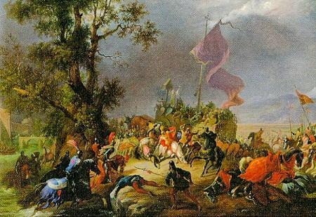 Картина «Битва при Леньяно» Массимо Д'Адзельо