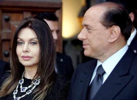 Берлускони с женой Вероникой Ларио