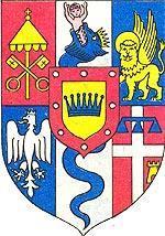 Гербовый щит Итальянского королевства при Наполеоне.