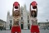 """""""Бронированный""""Милан, саммит ASEM и активистки """"Femen"""" топлесс против Путина"""