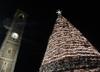 """Рождество: эко-ель, созданная из 8000 упаковок """"Tetrapak"""", появилась в провинции"""