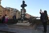 Фонтан Челлини на Понте Веккьо во Флоренции снова работает