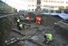 Во Флоренции при прокладке трамвайных линий рабочие обнаружили древнеримский нек