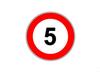На одной из итальянских дорог установлен знак, ограничивающий скорость движения