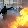 В результате массовых беспорядков, которые охватили Рим, пострадало около 100 че