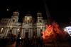 Рим: обелиск, расположенный в центре Пьяцца Навона, становится Рождественской ел