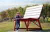 В Ланге появились гигантские скамейки