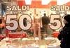 Итальянцы спешат за скидками, на Апеннинах стартует сезон зимних распродаж
