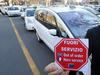 Проблемы в Риме в связи с забастовкой таксистов