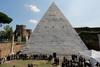 Закончилась реставрация Пирамиды Цестия в Риме