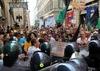 В Риме во время демонстрации протеста пострадавших от землетрясения в Аквиле пос