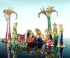 Рождественские ясли с персонажами из драгоценного муранского стекла ручной работ