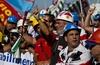 Рабочие предприятия Alcoa прибыли в Рим с маршем протеста