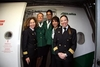 8 Марта авиакомпания «Alitalia» отметила женским экипажем самолета
