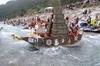 В Пьемонте состоялись соревнования по плаванию на картонных лодках