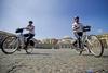 Полицейские Неаполя осваивают велосипеды