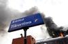 Пожар на станции Тибуртина в Риме стал причиной транспортного хаоса