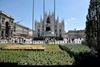 Милан: знаменитая Пьяцца Дуомо покрылась ароматной зеленью