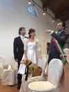 В качестве «свидетеля» на свадьбе – собака