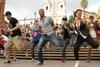 Танцевальный Flash Mob на площади Испании в Риме