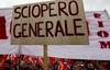 На Апеннинах сегодня прошла общенациональная забастовка