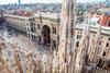 дрон для сьемок панорамных фото повредил шпиль Миланского собора