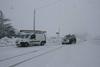 На севере Италии выпал снег