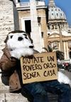 На улицы Рима вышли бездомные белые медведи