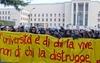 Студенты римского университета выступили с акциями протеста