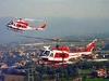 Вертолет пожарных упал сегодня в озеро Браччано