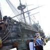 В Генуе трое пьяных туристов забрались на знаменитый пиратский галеон