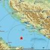Сильное землетрясение произошло сегодня днем в Адриатическом море