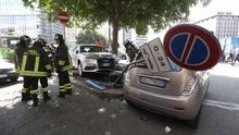 85-летний водитель перепутал педали на перекрестке и сбил троих пешеходов