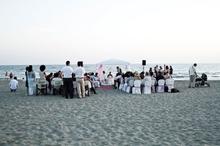 Первая свадьба на пляже во Фьюмичино