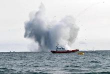 Итальянский истребитель упал в море во время авиационного шоу в Террачине