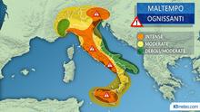 В четверг Италию накроет новая волна непогоды