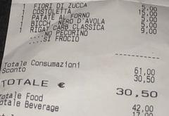 Римский ресторан оскорбил гей-пару, напечатав гомофобскую надпись в выбитом чеке