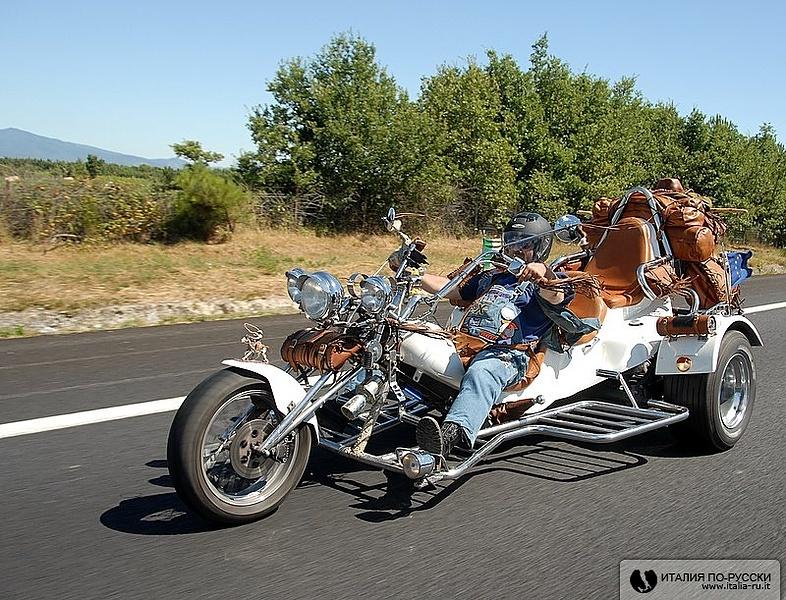 байкер на 120 км/час