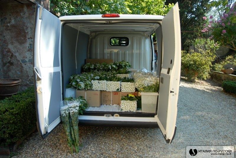 вагон цветов