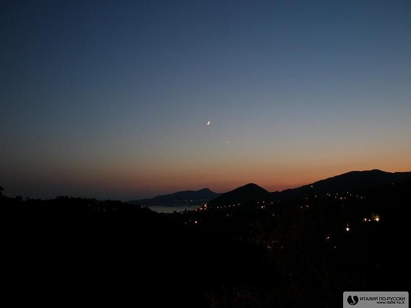 Закат в Лигурии