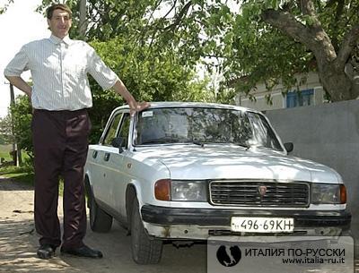 Украинец признан самым высоким человеком в мире