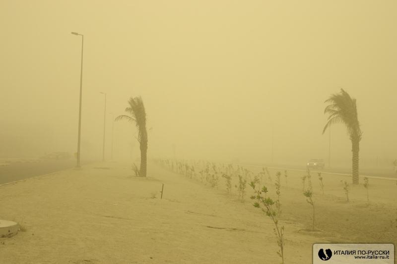Кувейт - пыльная буря